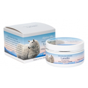Alpine Silk  Lanolin and Collagen Creme 100g