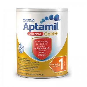 【澳洲直邮】Aptamil® Gold  AllerPro 1 爱他美抗过敏奶粉 中度水解蛋白奶粉1段 900g 6罐装 下单需要身份证号码