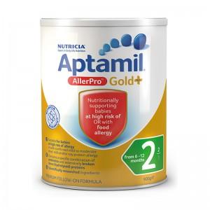 【澳洲直邮】Aptamil® Gold  AllerPro 2 爱他美抗过敏奶粉 中度水解蛋白奶粉2段 900g 6罐装下单需要身份证号码