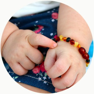 Bambeado班比度宝宝婴儿天然琥珀手链(混合色14cm) 安抚情绪