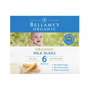 Bellamy's  organic milk rusks  6+ 100g