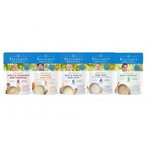 Bellamys 贝拉米米粉米糊 6包 口味随超市变化(请备注段数和数量)