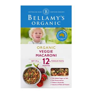 Bellamy's Organic Vegie Macaroni for 12+ months 175g
