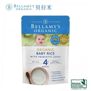 Bellamys 贝拉米有机婴儿益生元GOS高铁米粉米糊4+ 125g