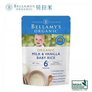 Bellamys 贝拉米有机婴儿香草高铁米粉米糊125g 6个月以上