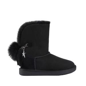 【澳洲直邮】DK UGG DK038 秋冬新款 后跟银狐毛球雪地靴