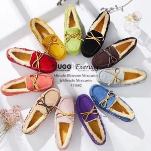 澳洲直邮预定2周发货 EVER UGG 11682 新款花漾毛豆豆鞋 防泼水隐形增高 2cm