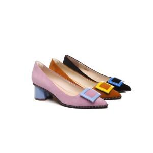 【澳洲直邮】EVER UGG Nina 11894 春夏新款尖头方扣女士高跟鞋