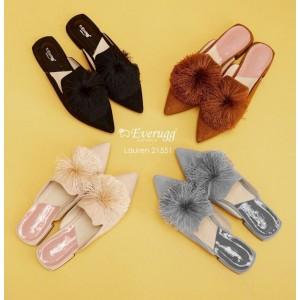 【澳洲直邮】EVER UGG 21551 Lauren  春夏新款箭头流苏球时尚拖鞋