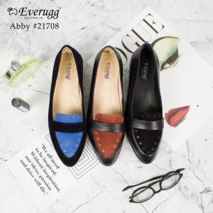 【澳洲直邮】EVER UGG Abby 21708 春夏新款 小羊皮尖头撞色平跟鞋(需要填写身份证号)