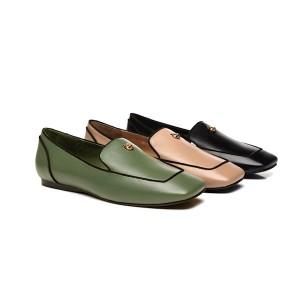 【新西兰/澳洲直邮】EVER UGG 21897 Jane 春夏新款 小羊皮 方鞋头镶边法漂鞋