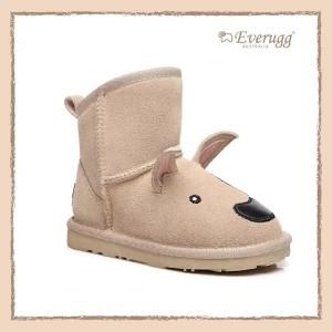 【澳洲直邮】EVER UGG 211010 TERRIER 沙色卡通立体狗儿童雪地靴