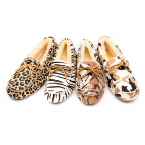 【澳洲直邮】EVER UGG Safari 11653动物纹系列 豆豆鞋