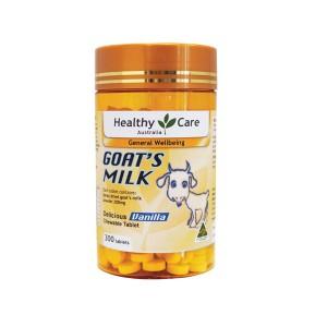 Healthy Care 山羊奶片咀嚼片香草味300粒 易吸收低脂低敏高钙