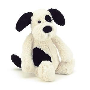 Jellycat 毛绒玩具 黑色奶油色小狗 中号 31CM Puppy