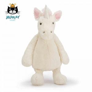 jellycat 独角兽 中号31CM 超柔软毛绒玩具公仔Bashful Unicorn