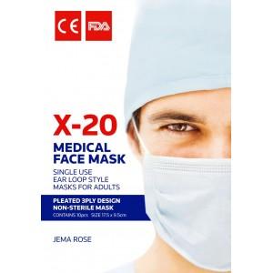 Jema Rose X-20 Disposable Medical Face Mask 10Pcs