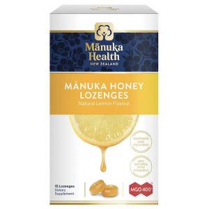 Manuka Health Manuka Honey Lozenges Lemon 15 Pack 65g