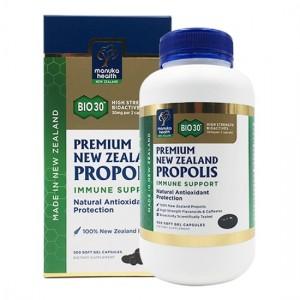 manuka health Premium BIO30™ New Zealand Propolis Capsules 500 soft capsules