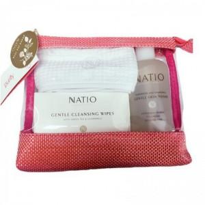 Natio娜缇欧新年圣诞礼盒套装(玫瑰水250ml 温和卸妆湿巾24片 头带1个 化妆包1个)