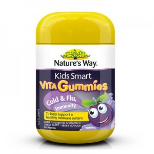 Natures Way 佳思敏儿童黑接骨木维生素软糖 60粒 预防感冒 提高免疫力