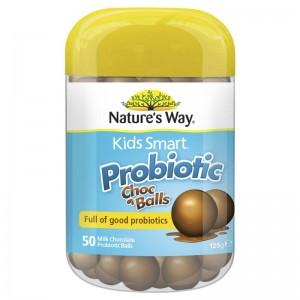 Natures Way Kids Smart Probiotic Choc Balls 50 Caps