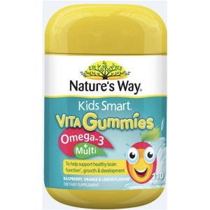 Nature's Way Kids Smart Vita Gummies Omega 3 + Multivitamin 110 Pastilles