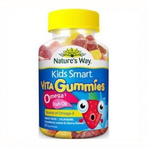 Natures Way 佳思敏儿童鱼油软糖 Omega3 60粒