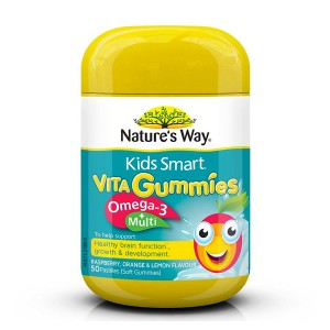 Natures Way Kids Smart Vita Gummies Omega 3 + Multi 50 Caps