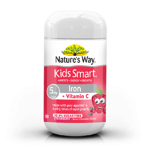 Natures Way Kids Smart Iron Chewable 50 Caps