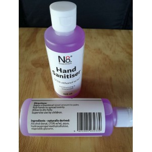 NO.8 Essentials Hand Sanitiser (75% Ethanol w/w) 125ml