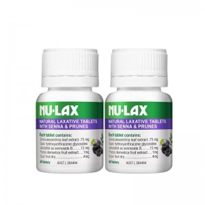 Nulax Natural Laxative Tablets with Senna and Prunes 40 Tablets