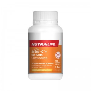 Nutralife Ester C for Kids Chewable 120 Caps