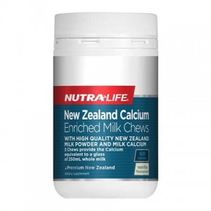 Nutralife New Zealand Calcium Enriched Milk Chews 60 Caps
