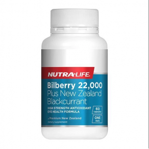 Nutralife Bilberry 22,00mg Plus Blacksurrant 60 Caps