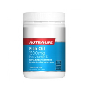 Nutralife Fish Oil 1500mg Plus Vitamin D 180 Caps