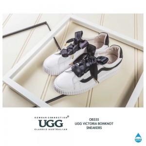 【澳洲直邮】OZWEAR UGG OB335 春夏新款条纹拼接 蝴蝶结/魔术贴 两穿运动鞋