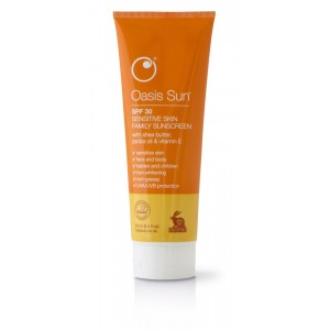 Oasis Sun SPF30 Sensetive Skin Family Sunscreen with Vitamin E, Shea Butter & Jojoba Oil 250ml