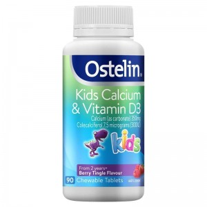 Ostelin Kids Calcium & Vitamin D3 Tablets 90 Caps