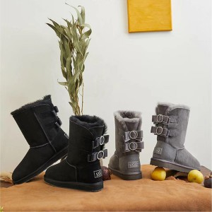 【澳洲直邮】OZLANA UGG OZ1005-3WR 秋冬新款 双蝴蝶结水钻中筒雪地靴