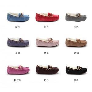 【澳洲直邮】OZLANA OZ3004WR5D 新款防水内增高(2cm) 顶级真皮羊毛 素色毛豆豆鞋