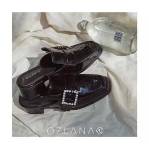 【澳洲直邮】OZLANA UGG OZ3041 春夏新款施华洛世奇水钻 方扣穆勒鞋 4.5cm粗跟