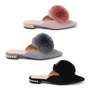 【澳洲直邮】OZLANA UGG OZ3043 春夏新款 尖头花球/蝴蝶结饰扣 两穿穆勒鞋