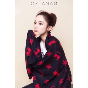 【澳洲直邮】OZLANA UGG OZ5021澳洲时髦猫 网红猫 100%美丽奴羊毛披肩围巾 190*65CM