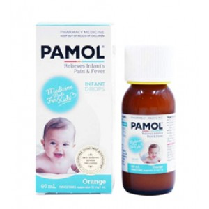 Pamol 儿童退烧止疼液100ml  1岁以下 橙子味