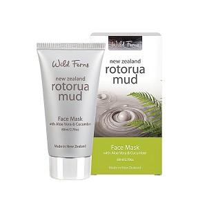 Parrs Wild Ferns Rotorua Mud Face Mask With Aloe Vera & Cucumber 80ml