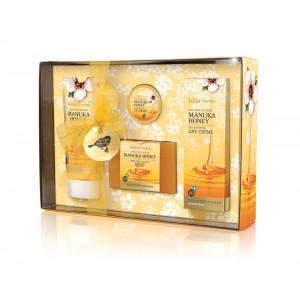 Manuka Honey Gift Box (Lip balm, day cream, soap, hand&nail cream)
