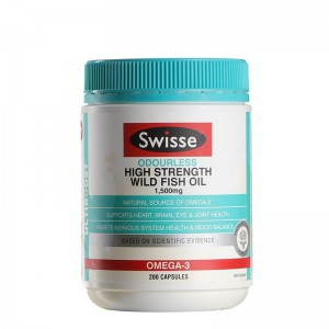 Swisse Ultiboost Odourless High Strength Wild Fish Oil 1500mg 200 Caps