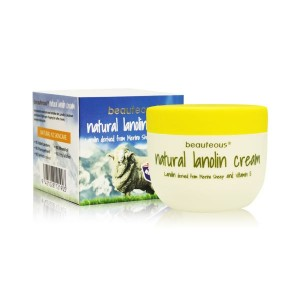 Beauteous Lanolin Cream contains lanolin 100% derived from Merino Sheep 100g