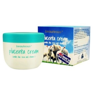 Beauteous Placenta Cream with Lanolin, Aloe Vera and Vitamin E 100g
